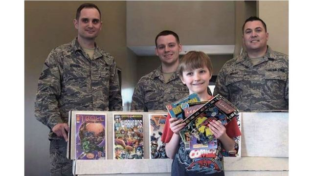 Kid Donates Thousands of Comic Books to Military Base